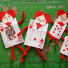 DIY playing card valentines - mypapercrane.com