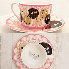 cookie tea cup set -click for art collaboration