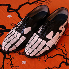 craft a pair of halloween skeleton shoes