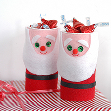 DIY Santa Favor Cups - mypapercrane.com