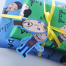 DIY Father's Day Wrapping Paper