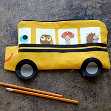 DIY -  School Bus Pencil Pouch