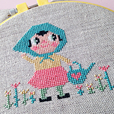 DIY Flower Girl Cross stitch
