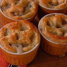 DIY Halloween Jack O' Lantern Pot Pies