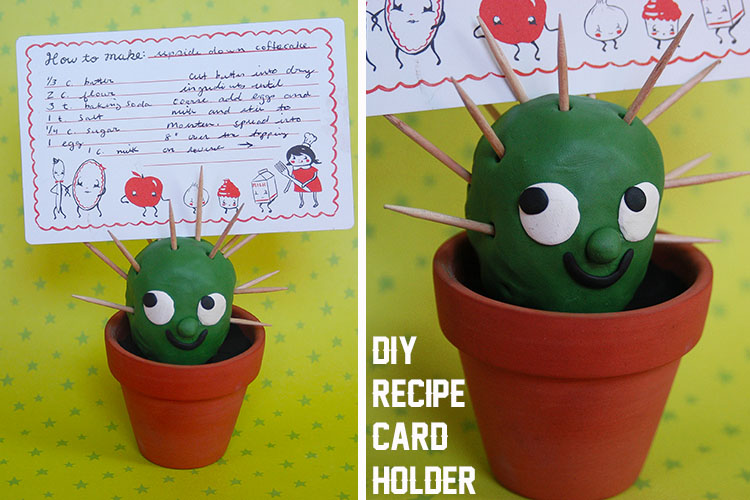 make craft a cactus from clay