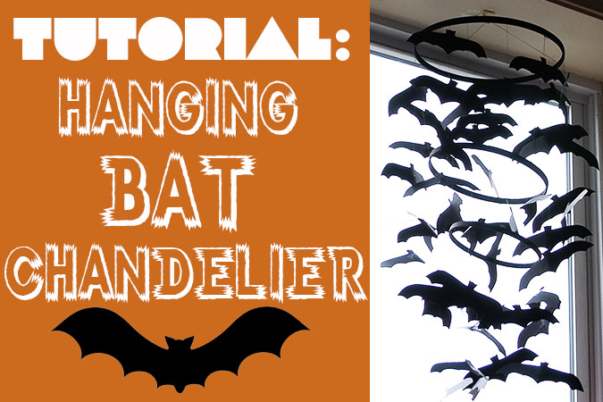Hanging Bat Chandelier by My Paper Crane at 30 Spider and Bat Halloween Decoration Ideas