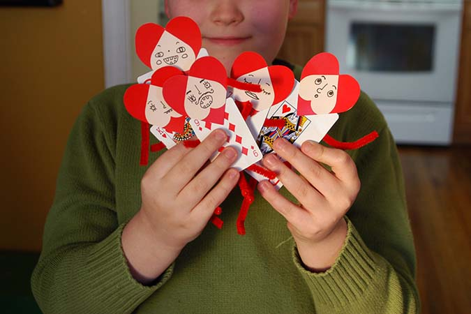 playing card valentines - mypapercrane.com