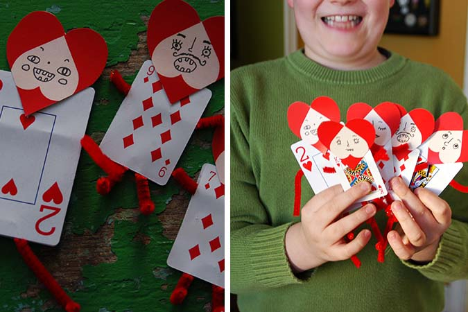 playing card valentines DIY - mypapercrane.com