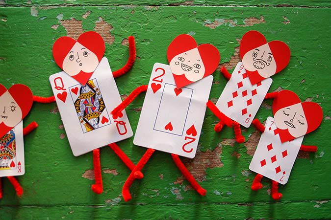 Playing Card Valentines DIY