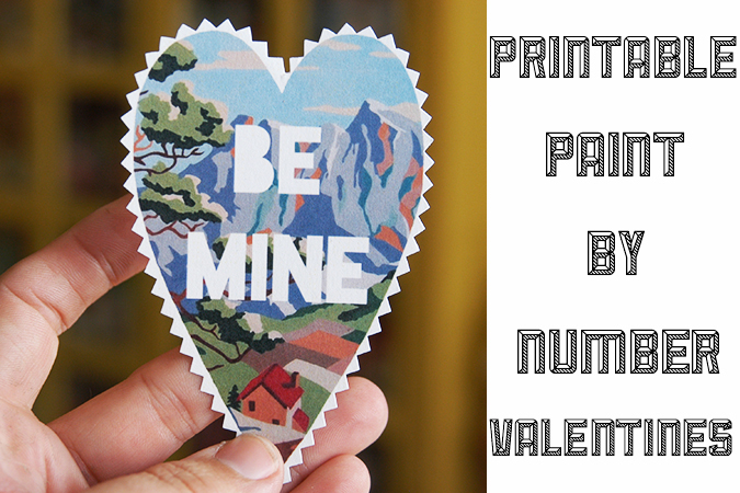 DIY paint by number valentines - mypapercrane.com