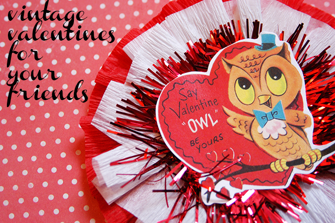 DIY vintage valentines for friends