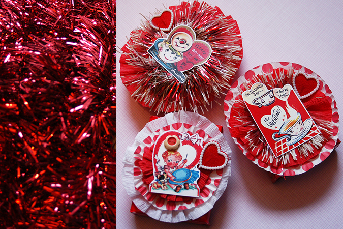 vintage valentines for friends DIY
