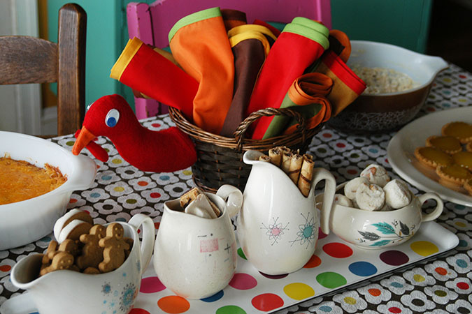 turkey napkin basket DIY