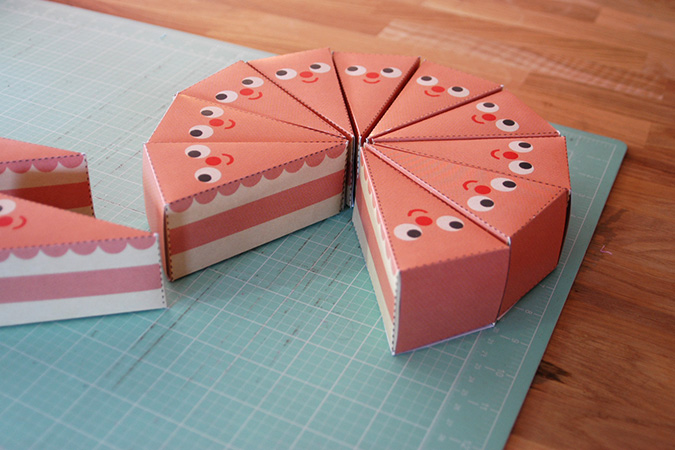 Cake Slice Treat Boxes paper craft DIY – My Paper Crane